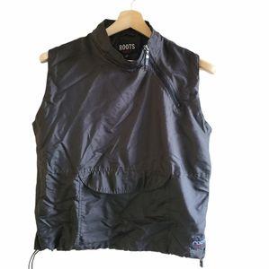 Black Roots Golf sleeveless pullover, med